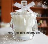 装飾のための贅沢で純粋で一義的な香料入りの瓶の蝋燭