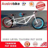 26 Zoll-fettes Fahrrad-fettes Gummireifen-Doppelsitz-Tandemfahrrad-Zweipersonenfahrrad-Fett-Gummireifen