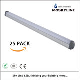 25 terrapieni T8 LED Tube, 2 Feet, 18W, 6000k, Wire Comes From The Middle