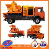Capacidade forte máquina forçada Caminhão-Montada da bomba do misturador concreto