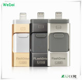 3 en 1 mecanismo impulsor del flash del USB de OTG para iPhone5/6/iPad/Andriod telefona (WY-pH19)