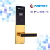 Bloqueio digital com RF Card Reader Hotel Card porta interna Sistema Locks Handle