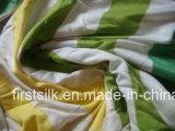 Único tela tingida de Jersey fio de seda