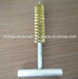 Escobilla de cobre amarillo del tubo del orificio del gas del alambre (YY-544)