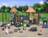 (Caratterizzato!) Campo da gioco per bambini grandi di tema antichi della capanna sugli'alberi di Kaiqi (KQ35007A)