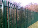 Cerca soldada revestida PVC do jardim do Palisade do engranzamento de fio