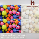 Fast Dry, Anti-Curl 45/55/70/80 / 100GSM Roll Sublimation Transfer Paper Fornecedor