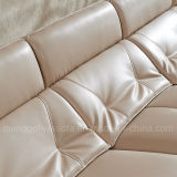 Neues Design Genuine Leather Sofa mit Wooden Arm (909#)