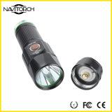 T6 linterna recargable del alto tiempo duradero ligero LED