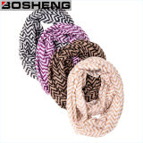 Sciarpa molle di infinità dello scialle lavorata a maglia contratto acrilico di inverno delle donne