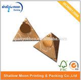 カスタマイズされた三角形の形のクラフト紙ボックス(QYZ274)