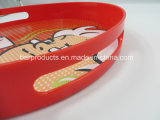 Custom Round PS Bar Serving Tray