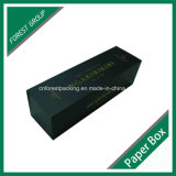 Matt Black Folding Carton Box pour Wine Bottle Packing