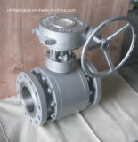 Flansch-Enden-Gang-Geschäfts-Form-Stahl-Kugelventil ANSI-300lb