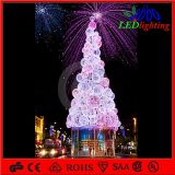 H: Shopping Center LED Street Lightingのための5mアセンブルChristmas Ball Motif Lighting Artificial Tree