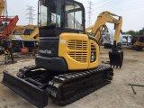 Mini escavatore utilizzato KOMATSU PC55 di KOMATSU con il pattino di gomma della pista