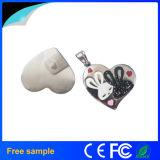 심혼 모양 선물 보석 USB 섬광 드라이브를 인쇄하는 주문 로고