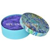 専門OEM/ODMの製造業者の卸売のボール紙の花のギフト用の箱の中の紫色のフィブリンのマット