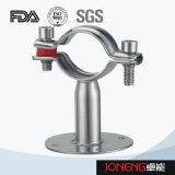 Stainles gesundheitliches Rohr-Halter-Stahlhalter mit Unterseite (JN-PL3006)