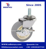 Light Duty Screw Tipo grigio PU Castor Wheel