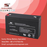 Backup Energien-Speicherbatterie 6V 9ah AGM-Batterie für Sicherheitssystem