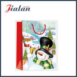 光沢のある薄板にされたアートペーパーのクリスマスのスノーマンのパッキングギフトの紙袋