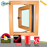 Woodgrain UPVC/PVC 여닫이 창 Windows, 태풍 충격 Windows 문