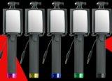 Nuevo palillo de Selfie con el Conducir-por-Alambre elegante plegable de las generaciones de la ayuda tres del Shooting del espejo