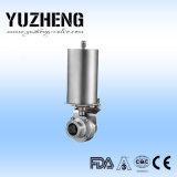 Válvula de borboleta inoxidável sanitária de Yuzheng com extremidades da soldadura