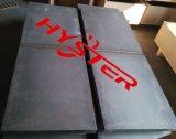 Plaque blanche d'usure de Domite de plaque de doublure de distributeur de fer