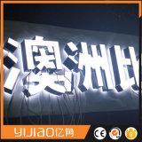 아크릴 LED 두 배 옆 편지 광고