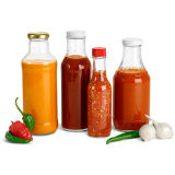 375ml опорожняют стеклянную бутылку соуса Chili с пластичными крышками