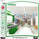 Scaffalatura della gondola di disegno della disposizione del supermercato