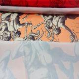 Neuer Entwurf gedrucktes Satin-Kleid und Haupttextilgewebe