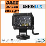 """Barra ligera de 12V 18W LED de la luz campo a través 4 de la lente del precio de fábrica 4D """" para el jeep"""