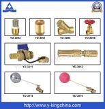 Messingverbindungsstück-Kugelventil mit Aluminiumbasisrecheneinheits-Griff (YD-1004)