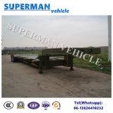 reboque da carga do reboque do caminhão do vagão Lowdeck/Lowbed/Lowloader do eixo 60t 4 de 10.5m Semi
