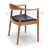 خشبيّة إطار جلد مقادة الكرسي تثبيت مستديرة