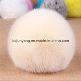 中国ののどのウサギの毛皮のポンポン