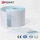 Étiquettes adhésives passives en bloc ultra-légères de collant d'étiquette de roulis d'IDENTIFICATION RF de MIFARE (r) C pour l'imprimante