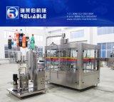 O PLC controla a máquina de enchimento comercial da água de soda do frasco