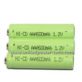 Bateria recarregável de 1.2V AAA 500mAh NiCd