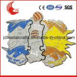 民芸様式および鋳造技術の大きいサイズのエナメルメダル