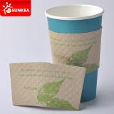 Многоразовые обручи чашки, напечатанная втулка кофейной чашки Kraft