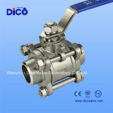 Шариковый клапан Q61f сварки 3PC нержавеющей стали с Ce
