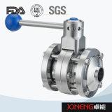 Válvula de borboleta apertada da transformação de produtos alimentares do aço inoxidável punho plástico (JN-BV2004)