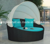 Rattan Outdoor Day Beds com Canopy