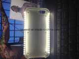 Caja ligera accesoria del teléfono móvil LED para el iPhone 5 caso de la cubierta del teléfono celular 6 6s