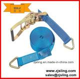 Trinquete Correa de sujeción de cables y / J doble gancho 8m X 50mm