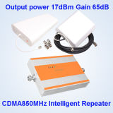 Aumentador de presión móvil de la señal del teléfono celular del repetidor de la señal del G/M de la mini talla, 850MHz para el hogar y oficina